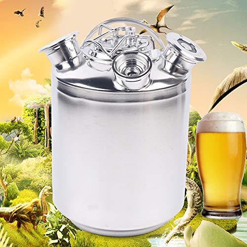 WUPYI2018 - Depósito de limpieza, 10 litros, barril de cerveza, barril de cerveza de acero inoxidable, junta de rosca para uso doméstico