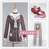 「COSCOOL」艦隊これくしょん -艦これ- 艦娘 天津風 コスプレ衣装+ウィッグ+靴 変装 仮装 コスチューム (女性M)