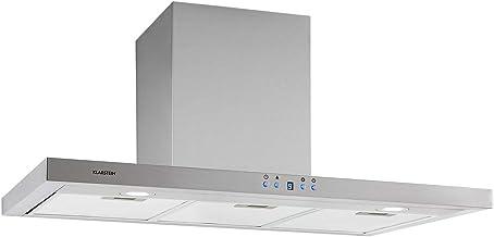 Klarstein Limelight – Extractor de humos, 90 cm, extractor de pared, eficiencia energética de clase A++, extracción, 600 m³/h, 3 niveles de velocidad, iluminación LED, plateado: Amazon.es: Hogar