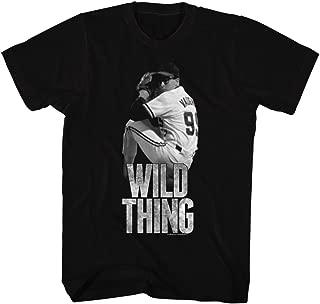 Major League Sports Comedy Baseball Movie Wild Thing Black Adult T-Shirt Tee