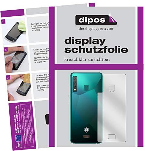 dipos I 2X Schutzfolie klar kompatibel mit HiSense King Kong 6 Rückseite Folie Bildschirmschutzfolie (bewusst Kleiner als das Glas, da Dieses gewölbt ist)