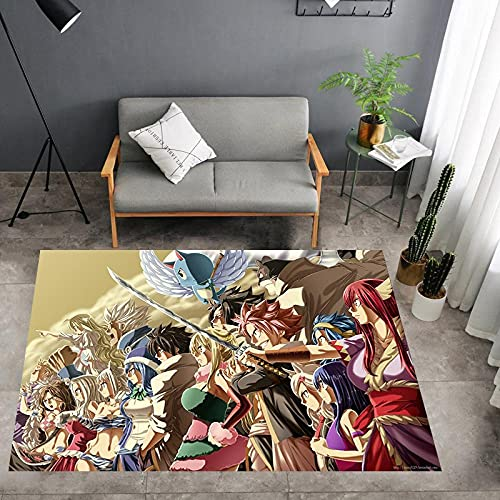 3D Alfombra de Anime Fairy Tail, alfombras de área de habitación de niños , Alfombra de Piso de Dibujos Animados-120X160CM-A_40x60cm