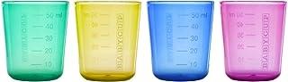 Edute エデュテ プレゼント BABYCUP (ベビーカップ) ファーストカップ 50ml 4個入り マルチカラー色 プラスチック製 子供 室内 おうち遊び おうち時間