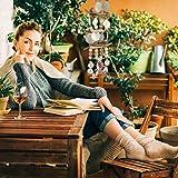 Relaxdays Windspiel mit Muscheln, maritimes Holz Klangspiel für Balkon, Garten-Deko, Capizmuschel Mobile, 107 cm, natur - 5