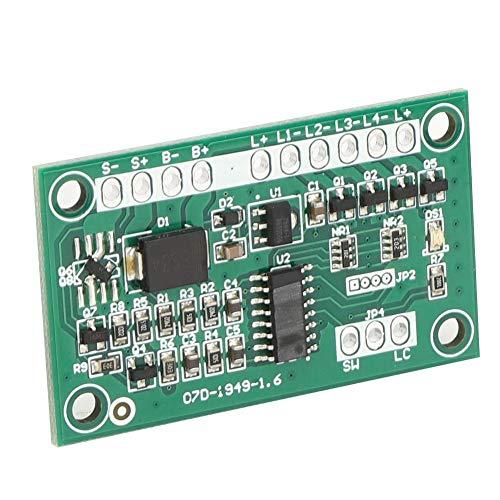 Cuatro salidas de control Placa de circuito de luz de advertencia multifunción Controlador de luz estroboscópica solar, Módulo de control de lámpara solar, para señales de tráfico solares