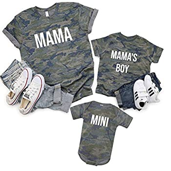 Mommy and Me Shirts Mommy and Son Shirts Boy Mom Outfit Matching Mommy and Boy Outfit Camouflage Mama and Baby Boy Matching Outfit Mother s Day Gift Babyshower New Baby New Mama Outfit Gift