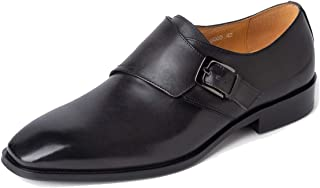 MINITOO Mens Monk scarpe classiche in pelle Business formale Oxfords JD2020-1