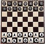 Juego de juegos de mesa de entretenimiento Juegos de ajedrez juego de ajedrez magnético con EVA Piezas de ajedrez magnética y se pueden enrollar el tablero de ajedrez de hierro suave, juego de juegos