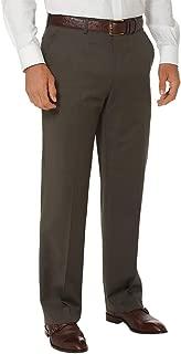 Men's Slim Fit Wool Gabardine Flat Front Pant