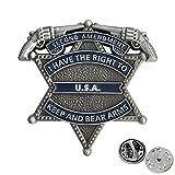 Gun Lapel Pin 2nd Amendment - Right To Bear...