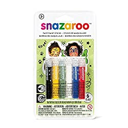 Package includes 6 face painting sticks If features semi-matte finish face paint sticks in vivid colors of red, yellow, blue, green, black and white Perfect for halloween party, themed party, costume party and birthday party This face painting sticks...