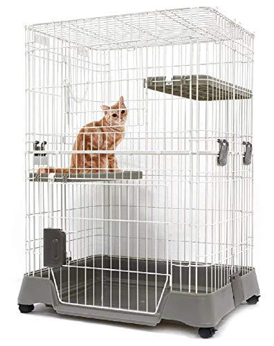 『マルカン キティケージ 1000 グレー 猫用』の1枚目の画像