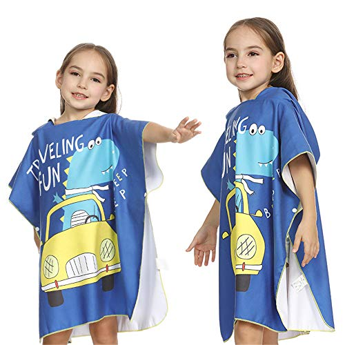 CaoQuanBaiHuoDian badhanddoek voor kinderen veranderen badhanddoek dinosaurus print strandhanddoek poncho met capuchon surfen zwemmen wetsuit vervanging kinderbadhanddoek cape