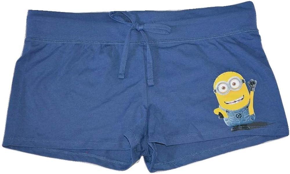 Despicable Me Minions Junior's Sleep Lounge Drawstring Shorts, Navy Blue