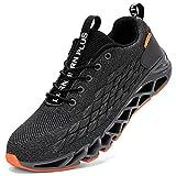 LARNMERN Zapatillas de Deporte Hombres Mujer Ligero Transpirable Running Zapatos para Correr Gimnasio Casual Sneakers Deportivas(Gris 38)