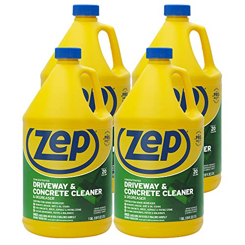Zep Driveway, Masonry and Concrete Cleaner and Degreaser 128 oz. (Case of 4) Concentrated Formula Makes 20 Gallons (ZUCON128)