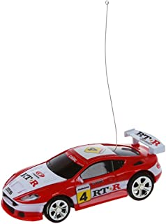 SODIAL Mini RC Remote Controll Car Racing Car Toys in The Beverage Can 1:58 (red & White) New