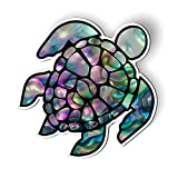 GT Graphics Express Sea Turtle Natural Shell Pearl Texture Green Purple - 5.5' Magnet for Car Locker Refrigerator