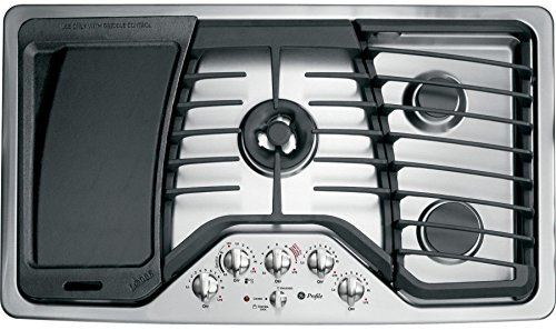 GE Profile PGP986SETSS 36' Gas Cooktop with 5 Sealed Burners