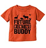 Future Hunting Buddy Deer Hunter Child Toddler T Shirt Orange