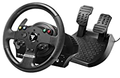 """900° force feedback base. Mixed belt-pulley and gears system, metal ball-bearing axle. Realistic """"competition"""" wheel design: 11""""/28 centimeter in diameter, with an ergonomic design perfectly adapted for all racing games Xbox One certified embedded so..."""
