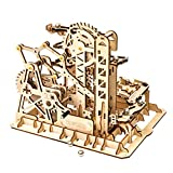 Rowood 3D Wooden Marble Run Puzzle Craft Toy, Gift for Adults & Teen Boys Girls, Age 14+, DIY Model Building Kits - Tower Coaster