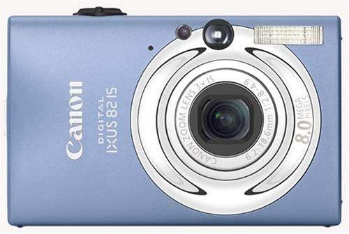 Canon Digital IXUS 82 IS Digitalkamera (8 Megapixel, 3-fach opt. Zoom, 6,35cm (2,5 Zoll) Display) blau