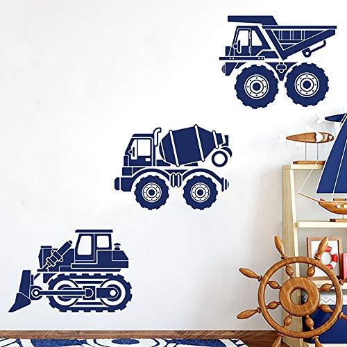 Sanzangtang Bulldozer Muursticker, voor vrachtwagen, vrachtwagen, muurstickers, vinyl