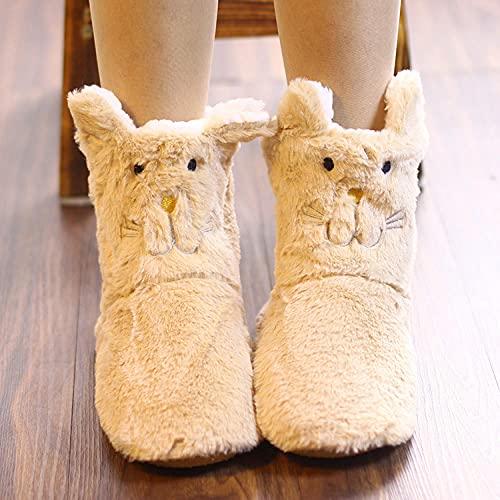 Zapatillas Estar por Casa Hombre Invierno,Botas Cortas para Mujer, Zapatillas De AlgodóN De Dibujos Animados, Bolso De OtoñO E Invierno con Zapatos Gruesos Y CáLidos Antideslizantes, Zapatillas Imper