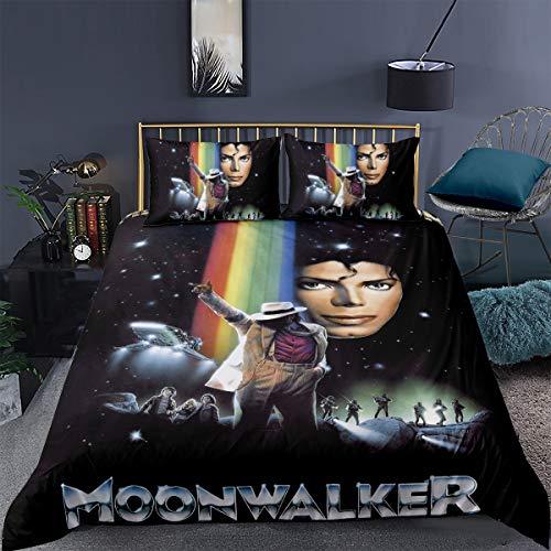 Ruiqieor- Juego de ropa de cama (135 x 200 cm, impresión digital 3D, para fans de Michael Jacksons, microfibra, funda de almohada 80 x 80 cm), Nº 10, 135 x 200 cm