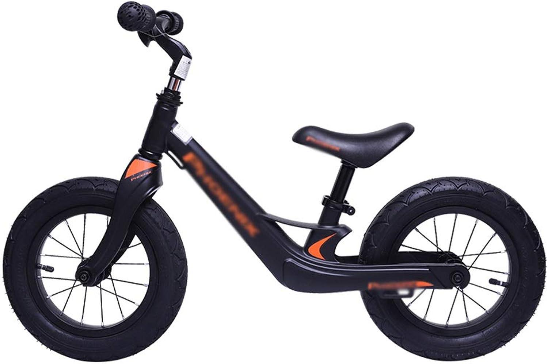 encuentra tu favorito aquí Equilibrio Bicicleta sin Pedales Bicicleta Niños de 2, 3, 3, 3, 4, 5 y 6 años (Ofrece un Conjunto Completo de Equipo de projoección + Casco) ( Color   negro )  mejor calidad mejor precio