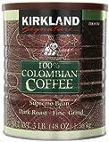Kirkland Signature 100% Colombian Filter Coffee Supremo Bean Dark Roast Fine...