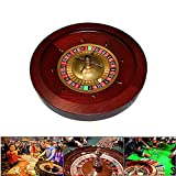 YUSDP 18-Zoll Deluxe Grade Casino Roulette-Rad-Heavy Massivholz