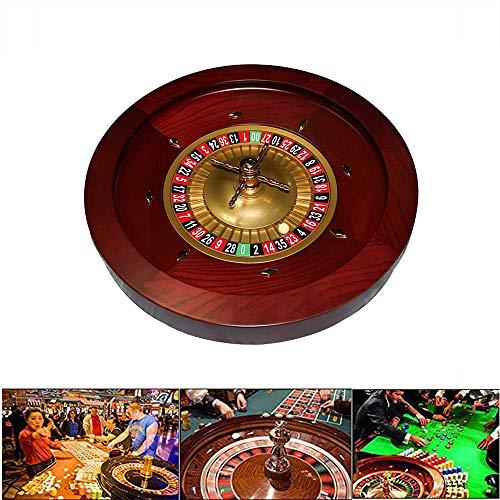 YUSDP 18-Zoll Deluxe Grade Casino Roulette-Rad-Heavy Massivholz, mit 2 Kugeln, Vintage Spiral Cross Design Abnehmbar - für Freizeit und Unterhaltung