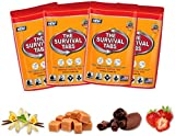 Survival Tabs 8-days food supply 96 tabs emergency food replacement disaster preparedness for earthquake flood tsunami gluten free and non-gmo 25 years shelf life long term food storage - mixed flavor