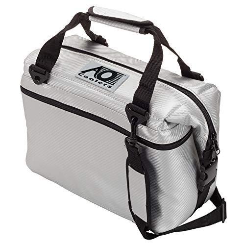 AO Coolers(エーオークーラー) 12 パック カーボン ソフトクーラー シルバー 防汚 軽量 保冷 クーラーボックス AOCR12SL (日本正規品)