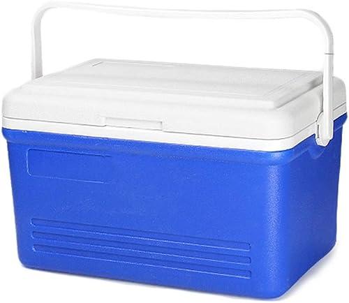 25L Portable Rigide Glacière Frigo Pour Conserver Le Froid Avec Fermeture Hermétique, Petit Réfrigérateur Congélateur Cooler Cool Box Pour Voiture Camping Caravanes Pique-niques, 49x28.5x27.5cm, Bleu