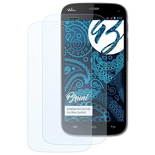 Bruni Schutzfolie kompatibel mit Wiko Darkfull Folie, glasklare Bildschirmschutzfolie (2X)