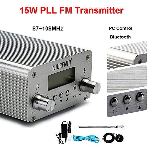 Elikliv 15W PLL FM Transmitter Radio Stereo Bluetooth Wireless Broadcast FM 76~108MHz