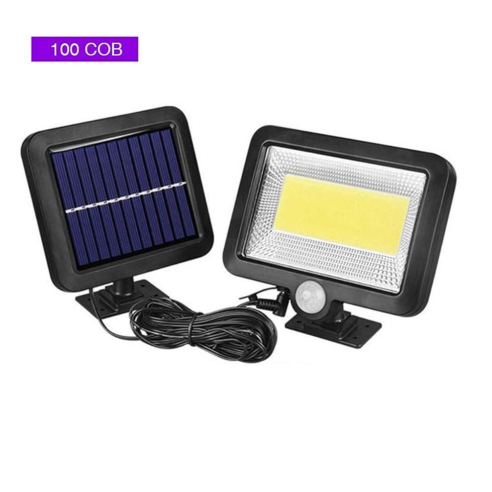 解明する好意的マーベル太陽スプリットホームガーデンストリート用センサー街灯、IP65防水&5M接続ケーブル、COB防水ウォールランプ屋外用LED投光器,100cob