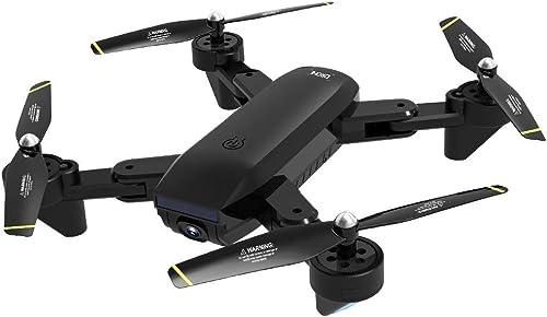 AmaMary Drone RC Quadcopter con cámara de 720p, SG700-D 2.4 GHz 4CH Gran Angular WiFi 720P Drone Plegable de Doble cámara de Flujo óptico (negro)