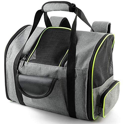 Beelike Soft-Sided Dog Carrier Airline Approved for Puppy Dogs and Medium Small Kitty Cats Portable Pet Backpack Travel Carrier