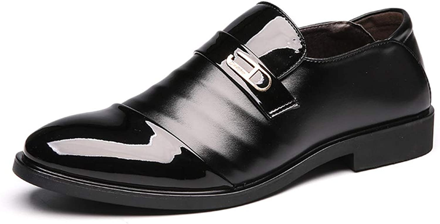 XIANGBAO-Personality Men's Simple Business Oxford Casual Fashion Summer British Style Patent-Leather Formal shoes
