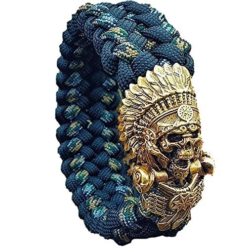 AMOZ Pulseras Personalizadas Tejidas a Mano para Hombres 's Y Mujeres' Personalizadas Dragónngo Paraguas Nudo Cuerda Pulsera Bohemia Brazalete Joyas Biker Tribal Amulet Rr