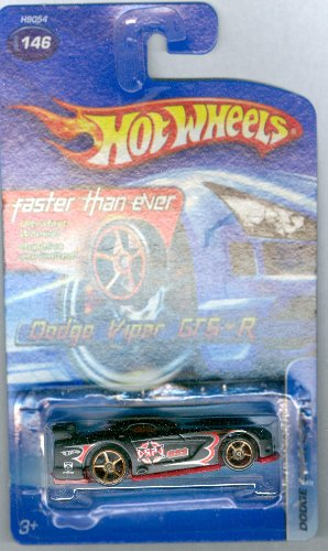 Hot Wheels 2005-146 Dodge Viper GTS-R FTE 1:64 Scale Faster Than Ever BLACK by Hot Wheels