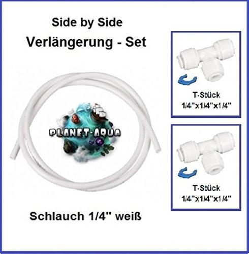Side by Side Verbinder Verlängerung Fitting Set 1/4 Zoll - 10 m Wasseranschluss Schlauch 1/4