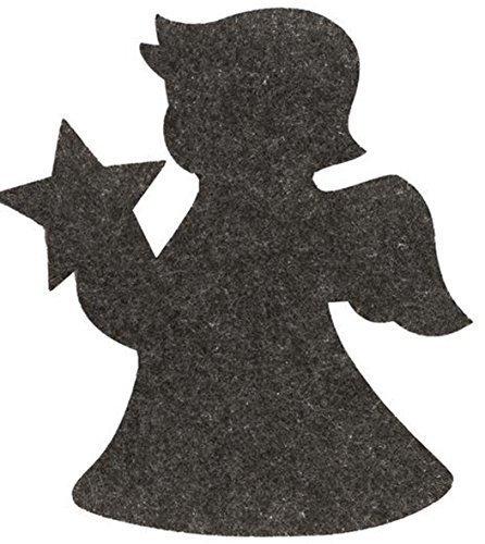 Lot de 3 filzunterlage ange gris foncé 18x20x 0,5cm 67101281
