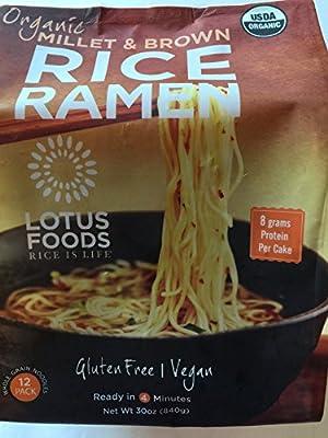 Lotus Foods Organic Millet & Brown Rice Ramen, 12 Pack