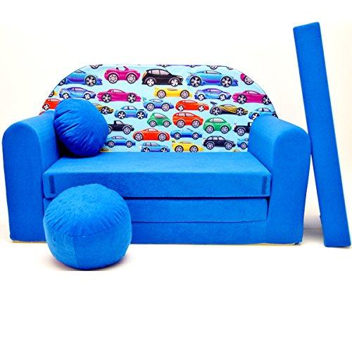 C21-a pour enfant Canapé bébé Canapé Mini Canapé Canapé lit Pouf Lot de 3 en 1 d'oreillers en mousse