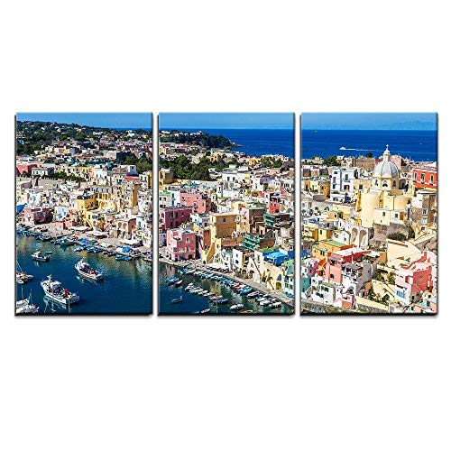 wall26 - Procida Island Summer in Italy - Canvas Art Wall Decor-16 x24 x3 Panels